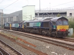 66428 heads a light engine movement to DRS Crewe.